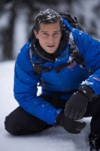 Bear Grylls blue coat